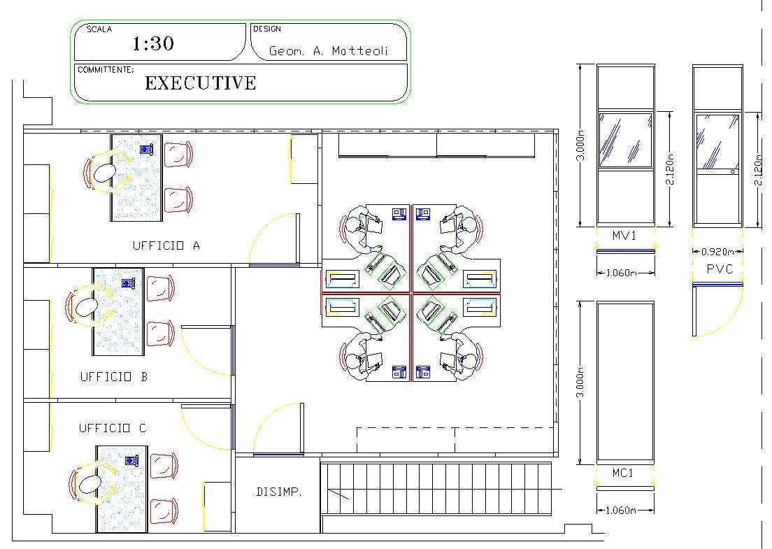 Arredo ufficio operativo studio tecnico genialstudio for Arredo ufficio tecnico